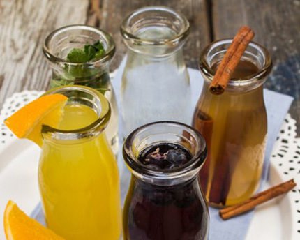 Homemade simple syrups