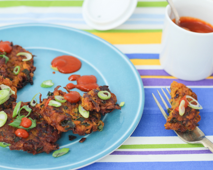 Kale and Sweet Potato Fritters