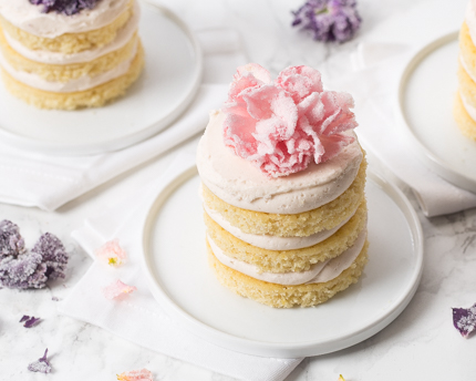 Floral Buttermilk Tea Cakes