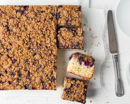Blueberry Crumble Buckle