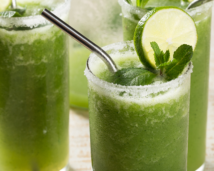 Blended Honeydew Mojito