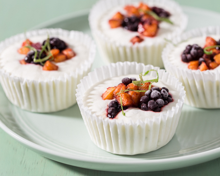 Frozen Nectarine Blackberry Yogurt Cups