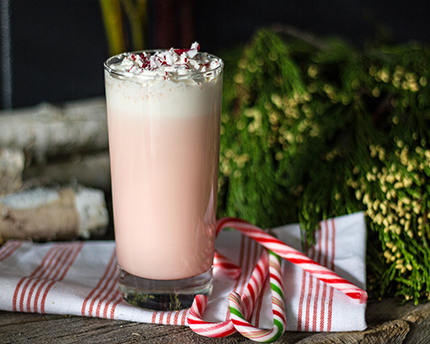 Simple and Creamy Candy Cane Milkshake