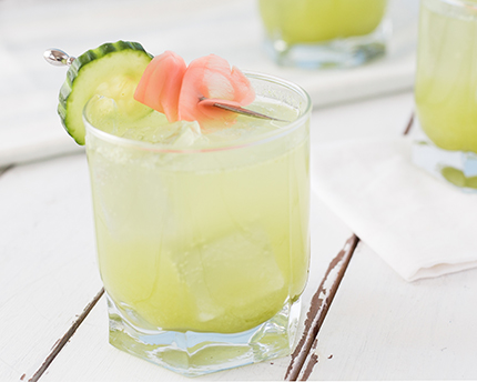 Spicy Cucumber Lemonade with Gin