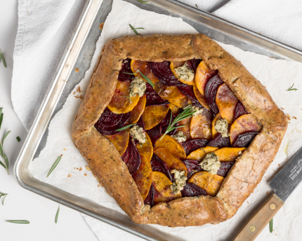 Beet, Squash, and Kale Galette