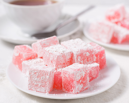 Rosewater Turkish Delight