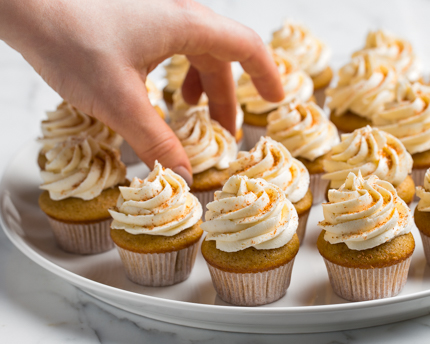 Mini Ginger Cupcakes with Rum Buttercream