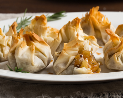 Pear, Almond, and Goat Cheese Parcels