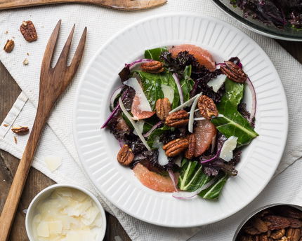 Winter Greens and Citrus Salad with Maple Dressing