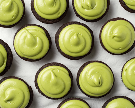Chocolate Cupcakes with Avocado Icing