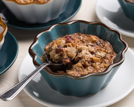 Individual Pear Pecan Cranberry Baked Oatmeal