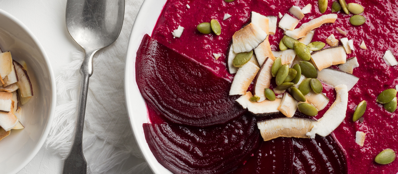 Sweet Cherry Beet Smoothie Bowl