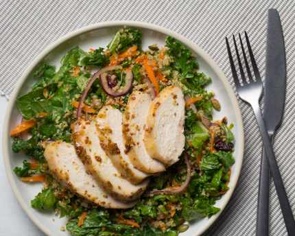 Maple-Mustard Chicken Quinoa-Kale Salad