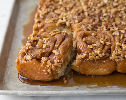 Apple, Walnuts, and Caramel Buns