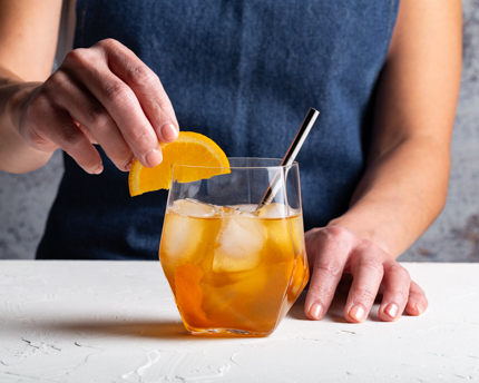 Orange-Ginger Whisky Cocktail