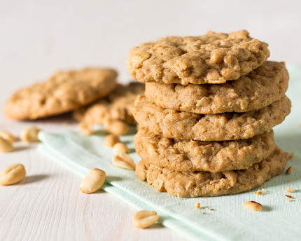 Easy One-Bowl Oatmeal Peanut Butter Cookies