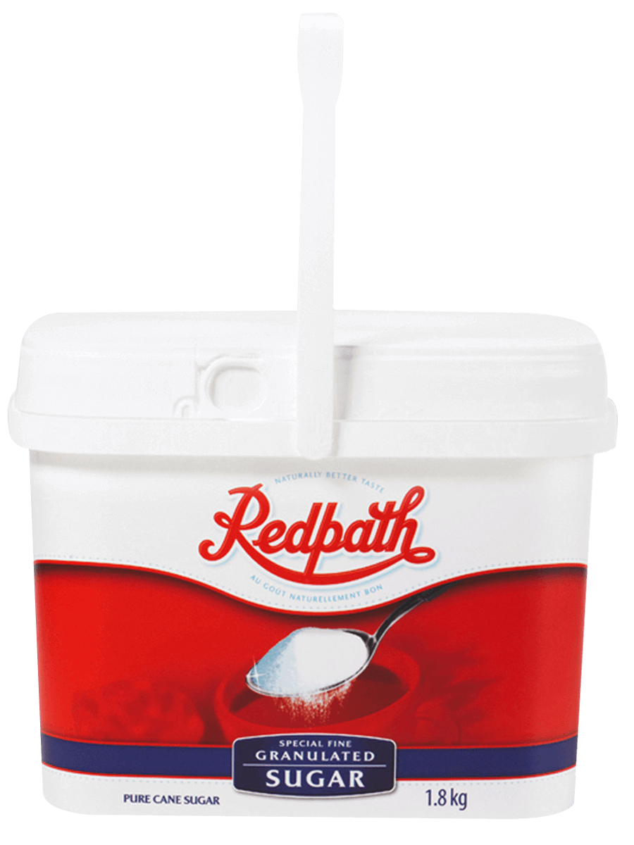Reusable & Recyclable Container with Granulated Sugar