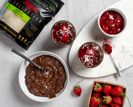 Strawberry, chocolate oats, Redpath Organic Sugar