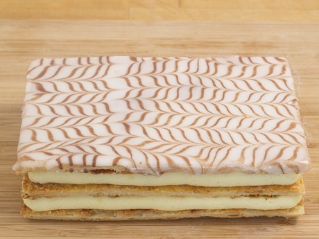 Completed mille crepe cake