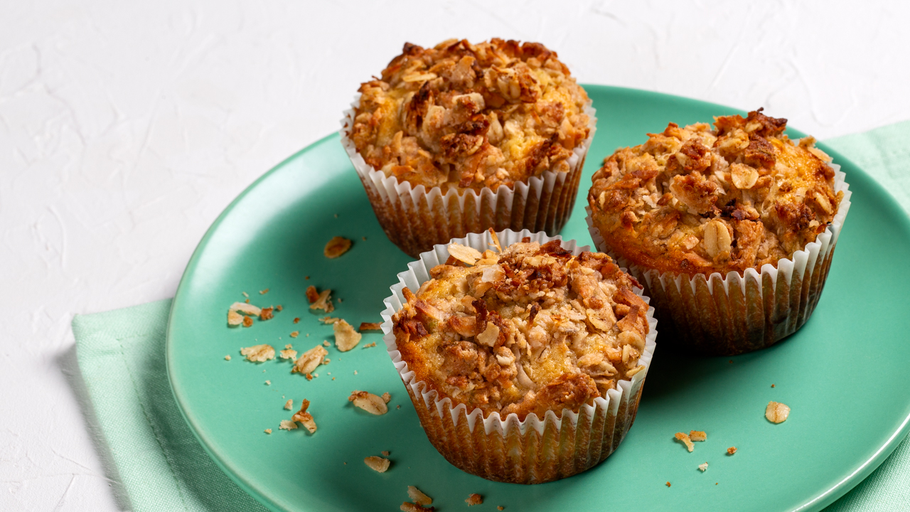 Pineapple Lime Muffins with Coconut Streusel Topping