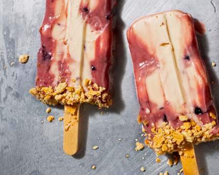 Cherry cheesecake frozen pops