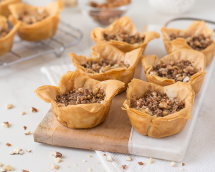 Orange Blossom Baklava Cups