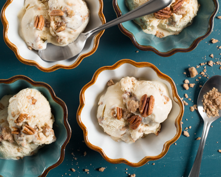 Maple Pecan Praline Ice Cream
