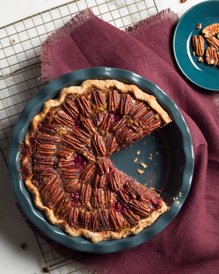 Cranberry Pecan Deep Dish Pie