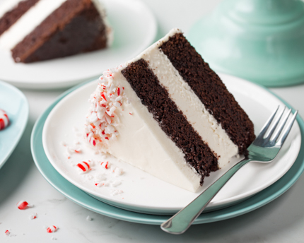 Peppermint Chocolate Layer Cake