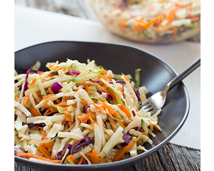Coleslaw and Cucumber Salad