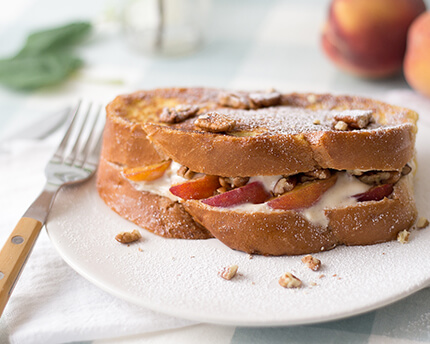 peach pecan french toast