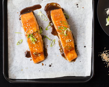 lacquered salmon